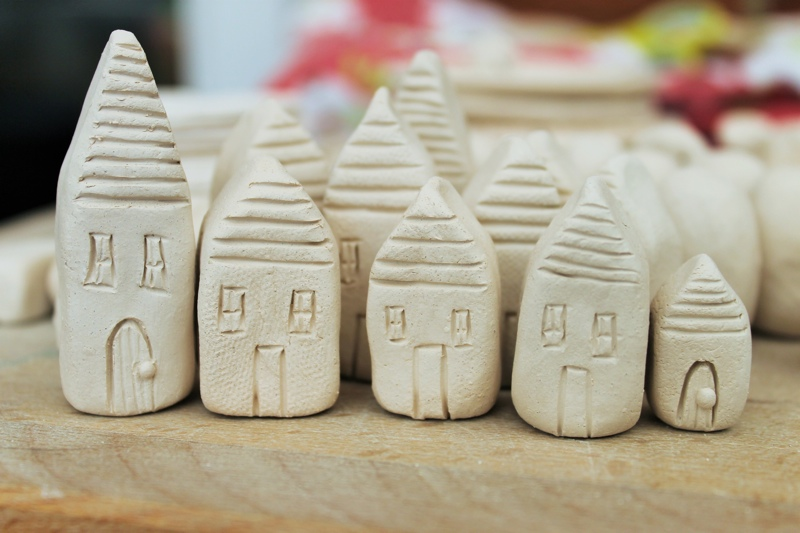 miniature ceramic houses, ceramic village, jessica catherine