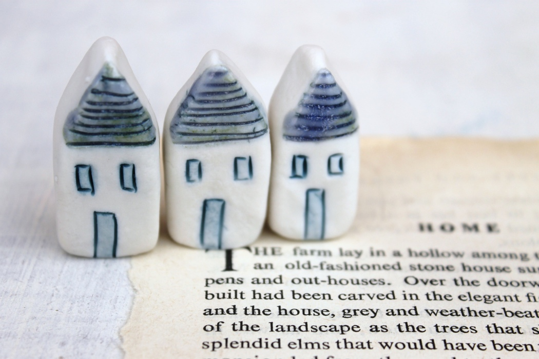 miniature ceramic houses, Jessica Catherine