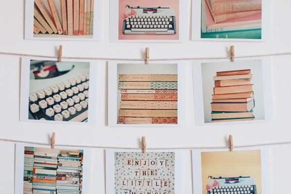 folksy homepage, literature mini prints, cassia beck