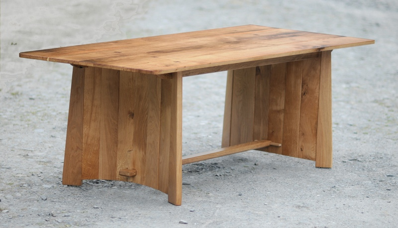 native oak dining table, tom provost