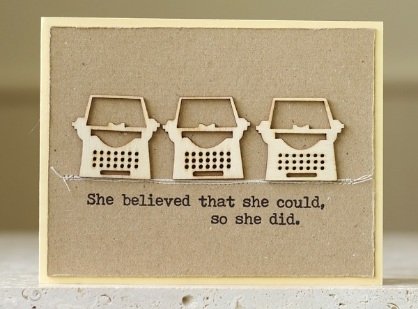 how to write a press release, handmade typewriter card