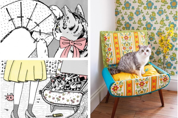 chloe tells you how to sew, giveaway, cat bed, sewing tutorial