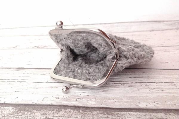 grey crochet purse by FunkyFern