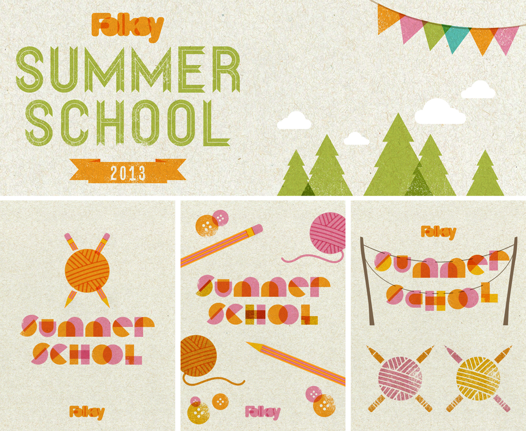 studio binky, Folksy summer school logo design