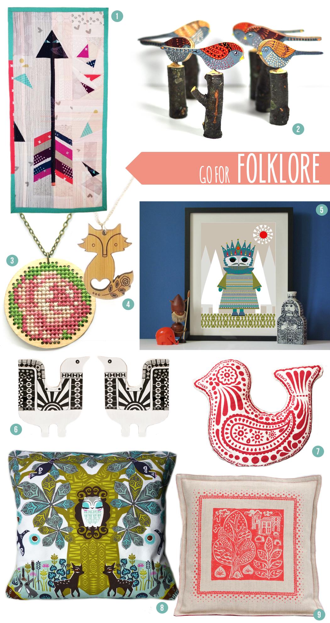 folklore, trend report, scandinavian style, birds, folk art, mollie makes