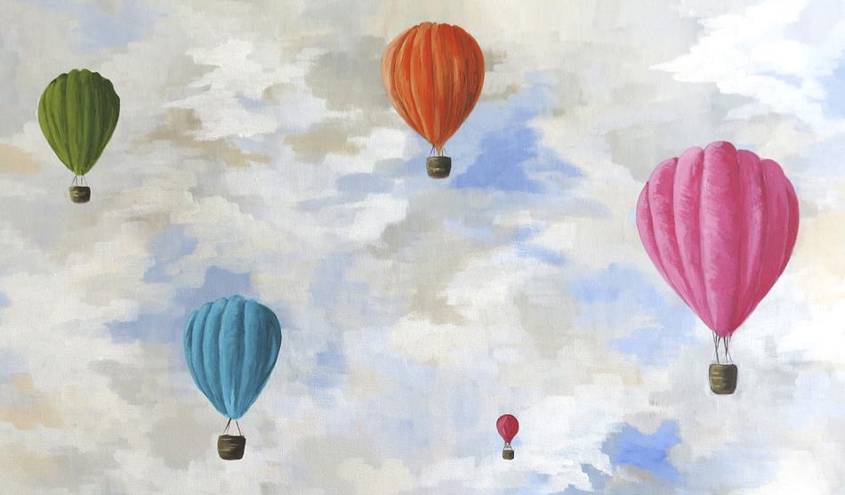 liz whiteside, newcastle, tyne artist, hot air balloons