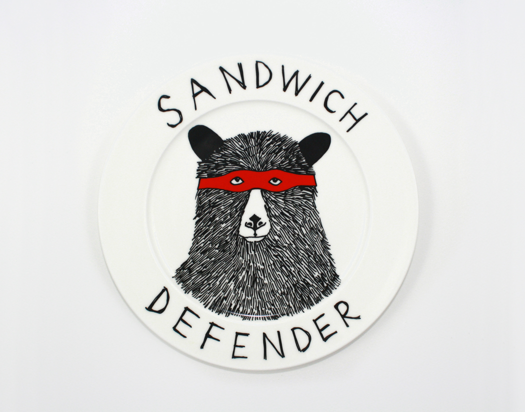 sandwich defender plate, jimbob art, jimbobart, james ward,