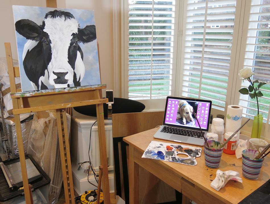 Liz Whiteside, artist, studio