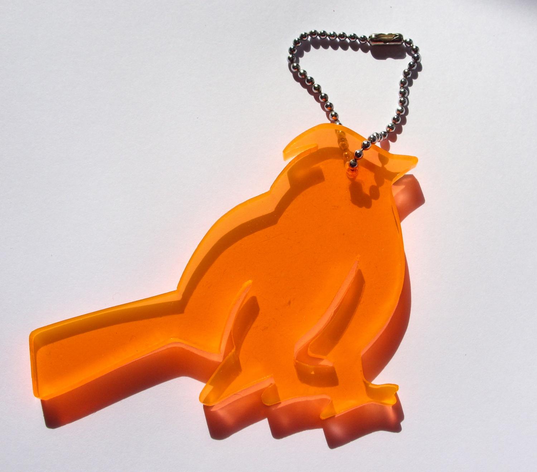 bird keyring, i am acrylic, iamacrylic