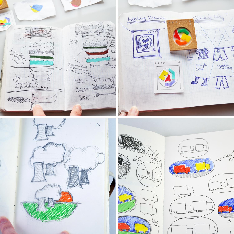 I Am Acrylic sketchbooks, design ideas, inspiration