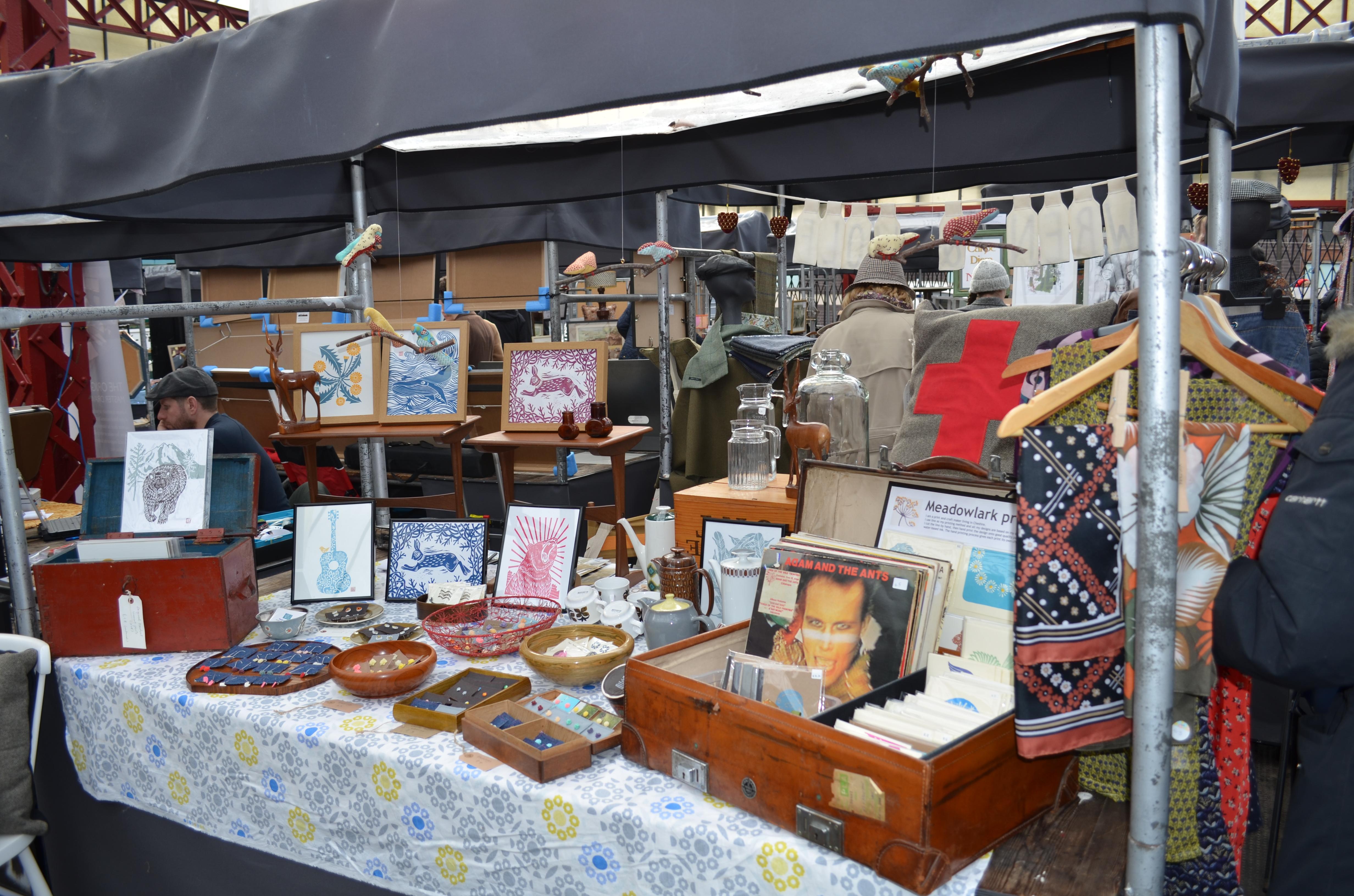 Meadowlark Prints, market stall