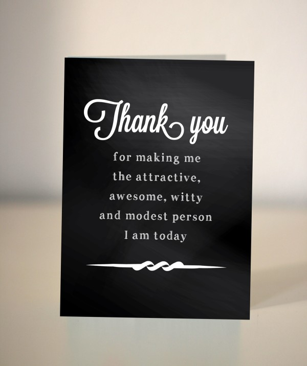 thank you card, mother's day card, father's day card, chalkboard, dickens ink, interview