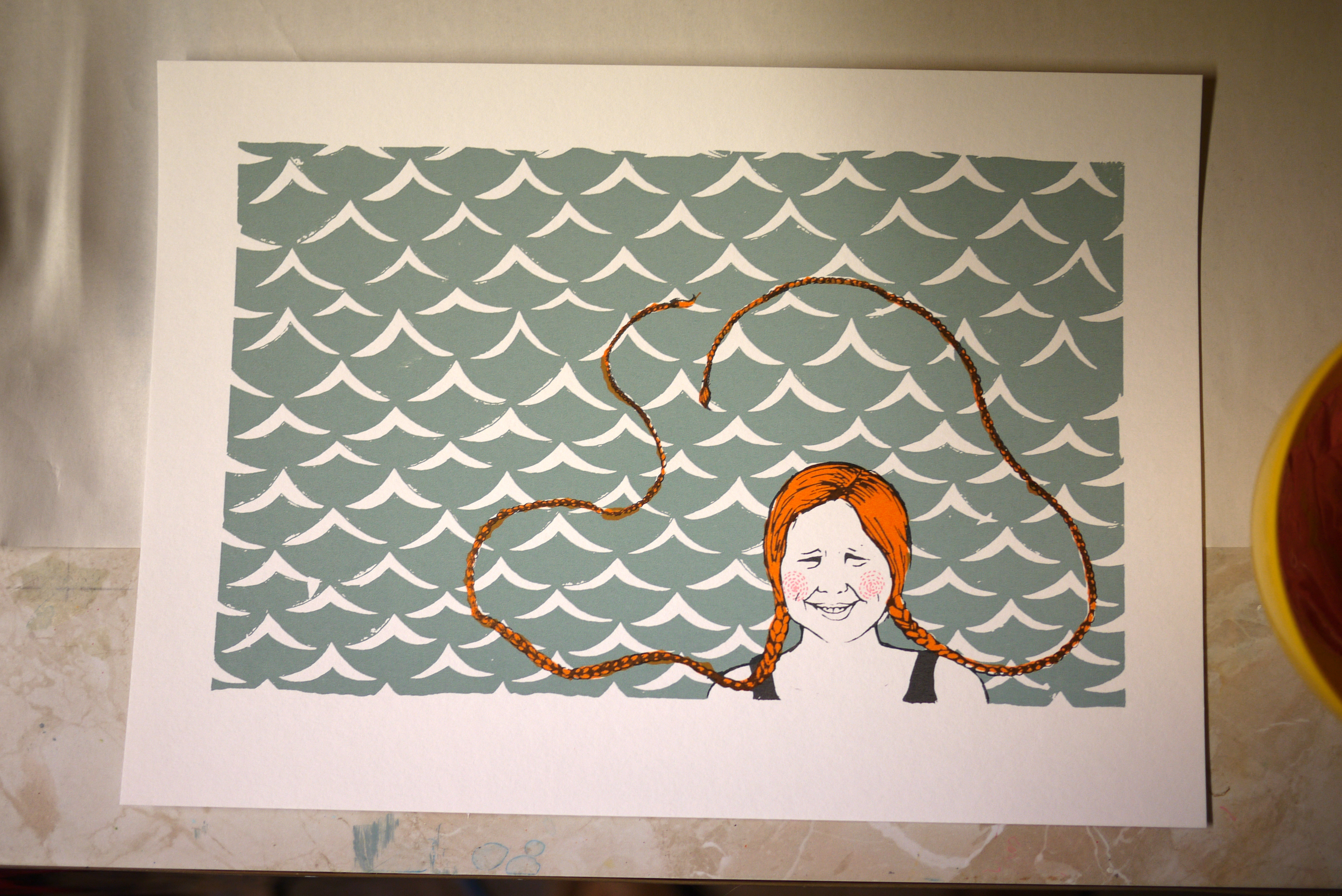 swimming girl, sianuska, pippi longstocking