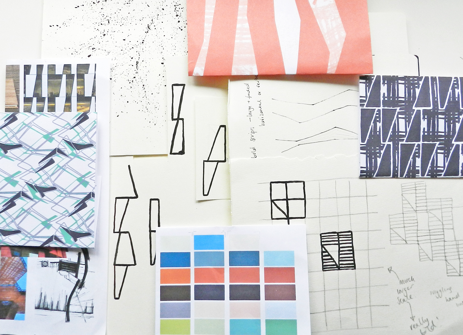 new products, Annabel Perrin, geometric, pastels, textile design