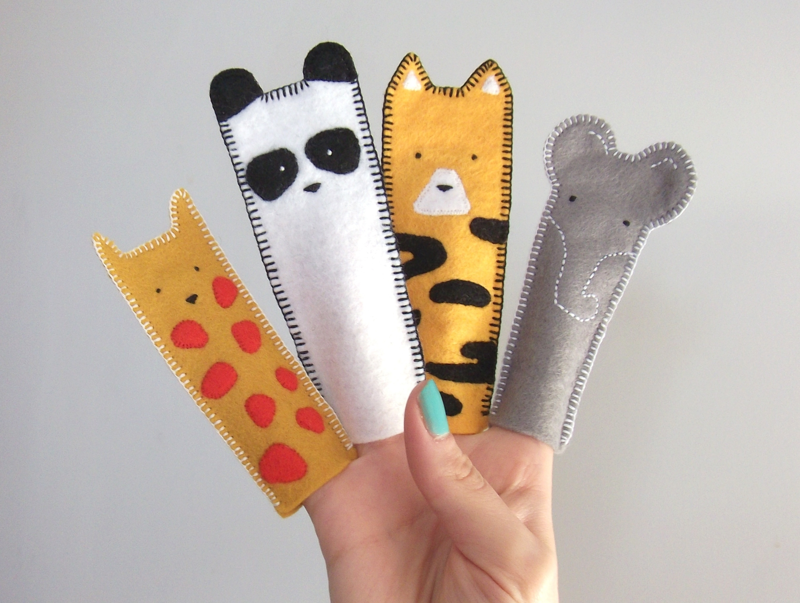 Amy Panda, amypanda, zoo animal finger puppets