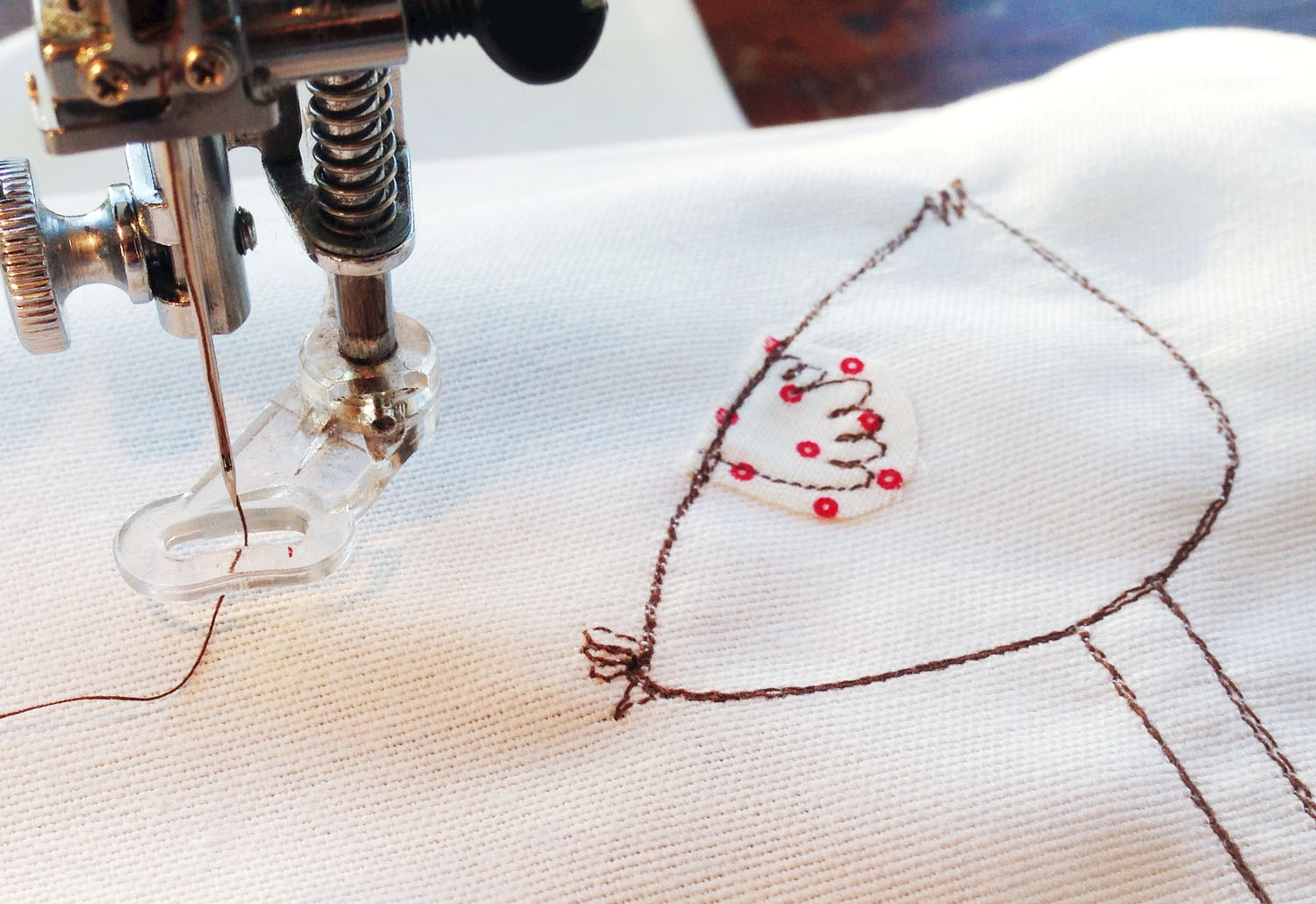 Charlotte Macey, embroidery, machine embroidery