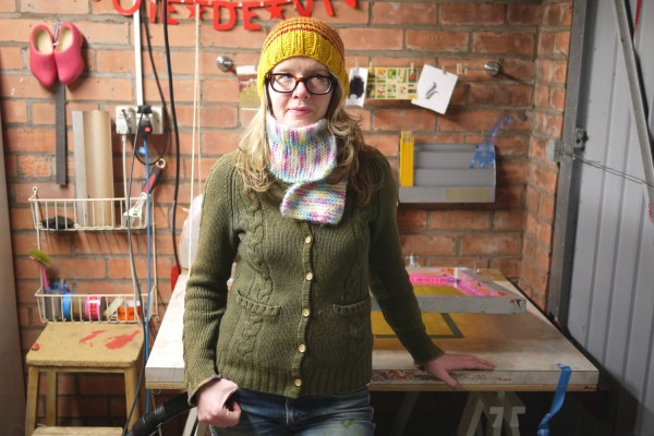 sian kellaway, sianuska, interview, british printmaker, studio tour, screen printing