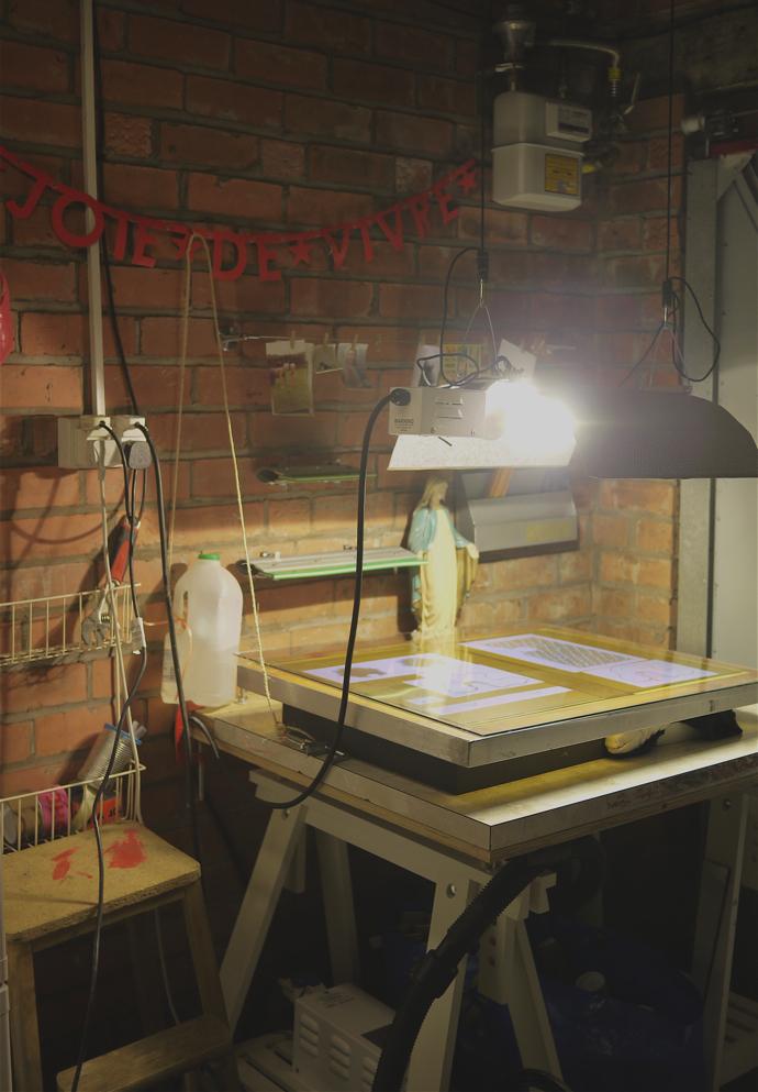 DIY exposure unit, screen printing, Sianuska