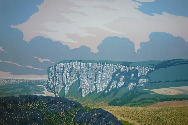 Stuart Brocklehurst, British Printmakers, Yorkshire, Flamborough Cliffs