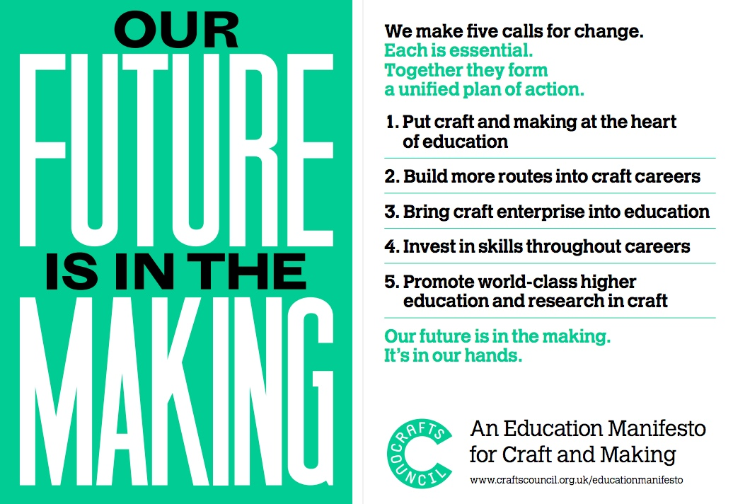 future in the making, craft education, crafts council,