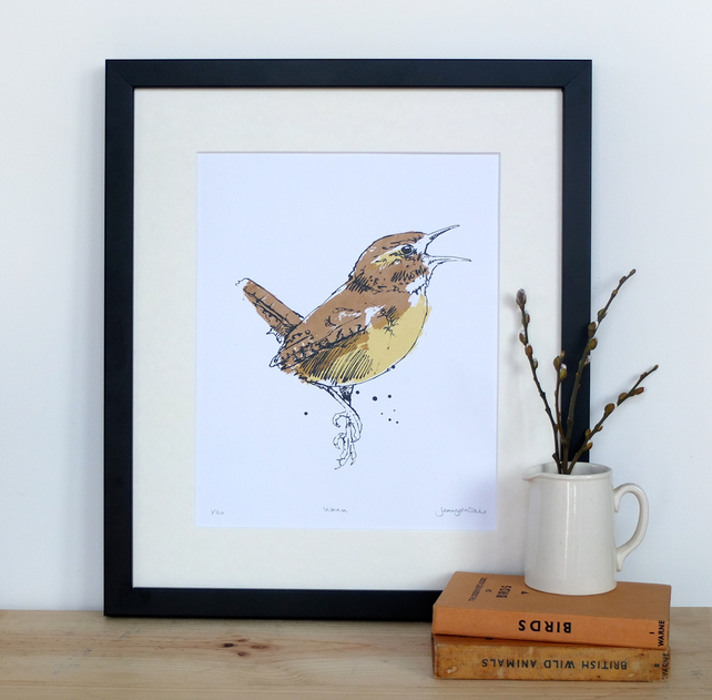 Wren screen print, coo and co
