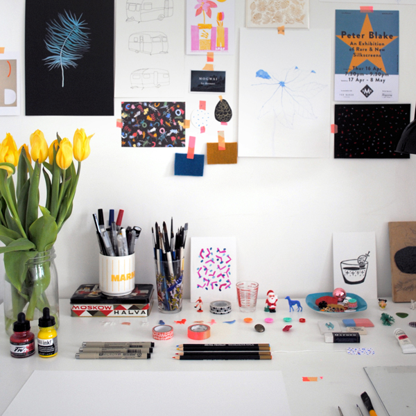 The studio of Ella Osborne, lucky dip club designer