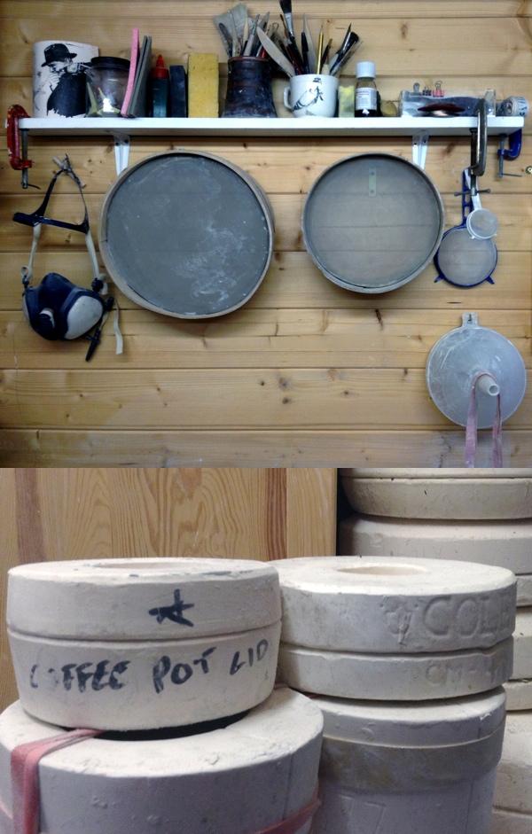 garden studio, Glazed and Confused Ceramics, slip cast moulds,