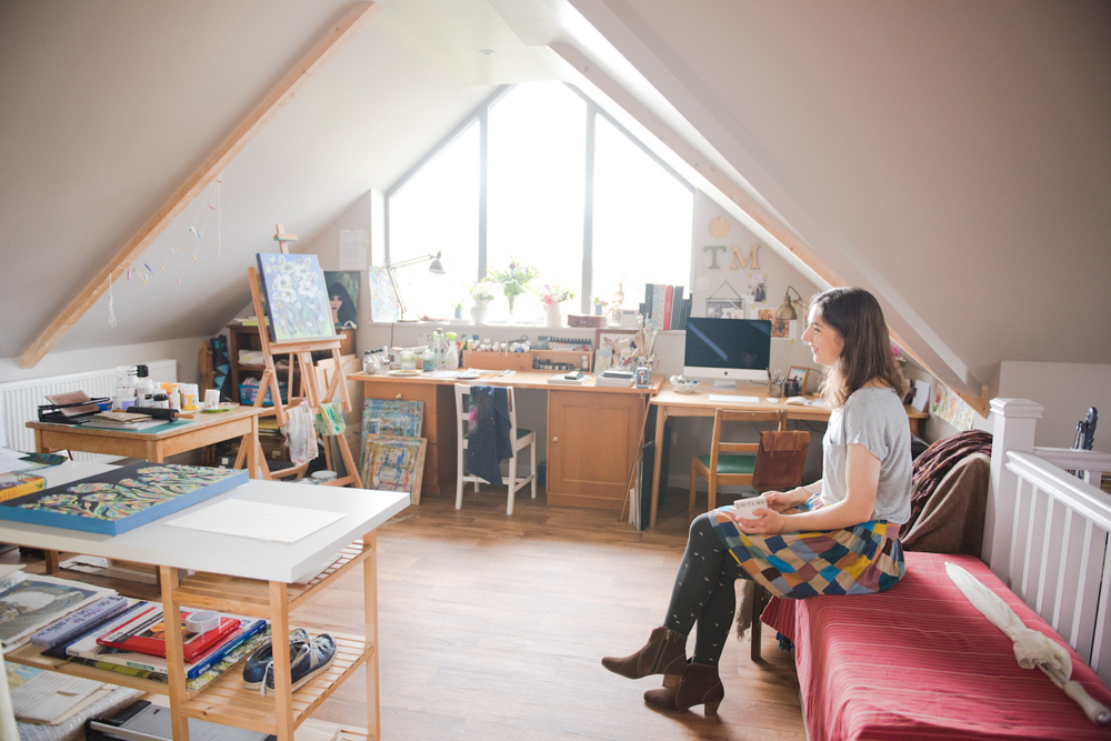 Trudi Murray studio, attic studio