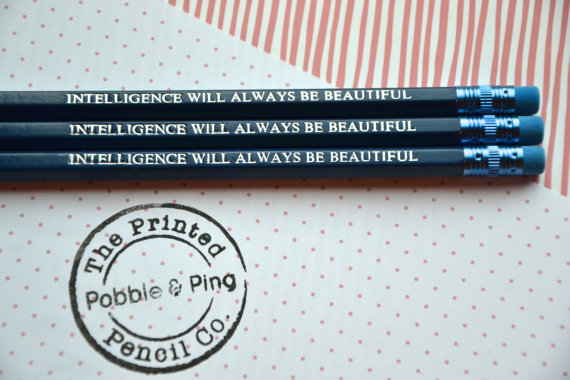 Personalised pencils, pobble and ping