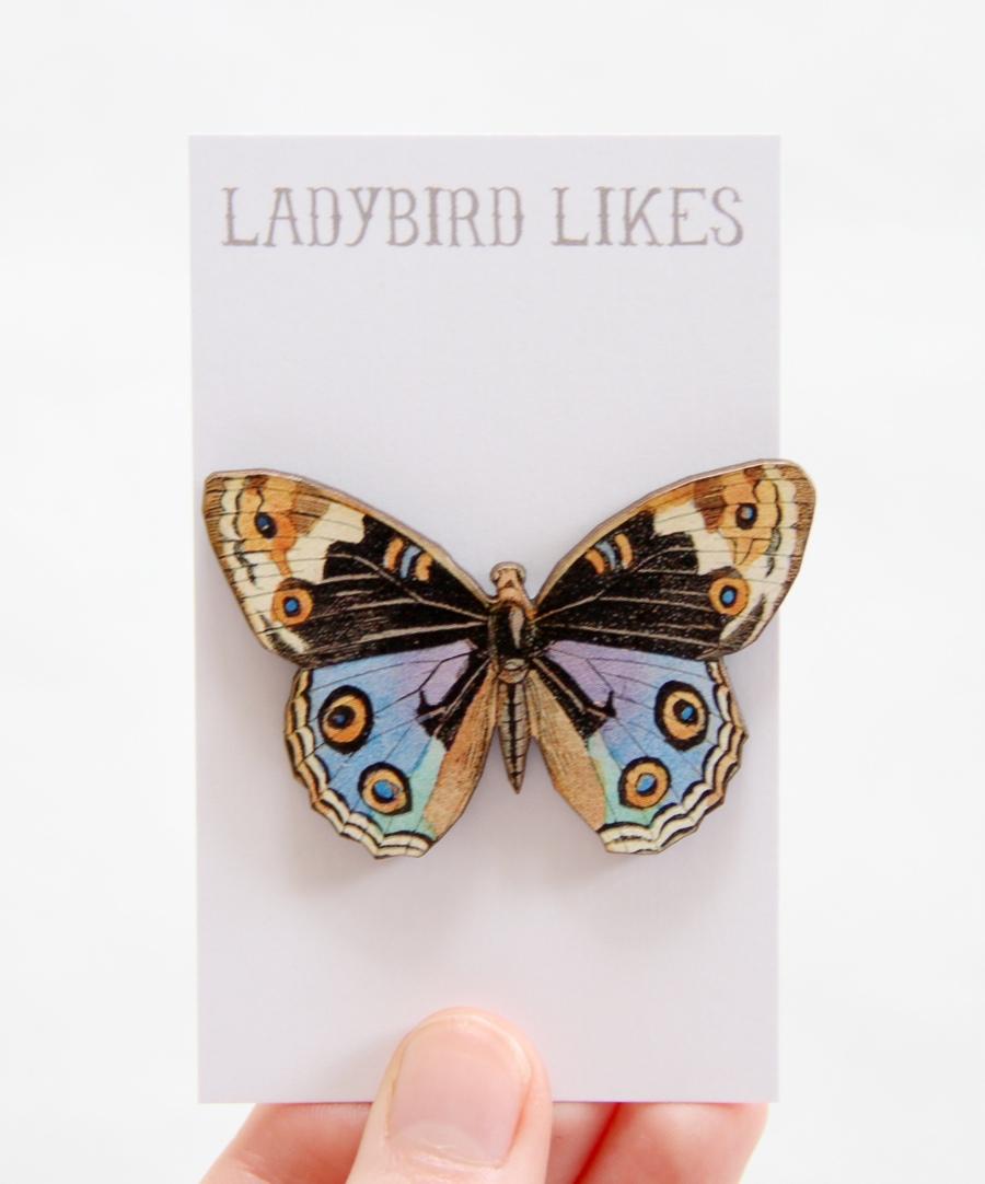butterfly brooch, ladybird likes
