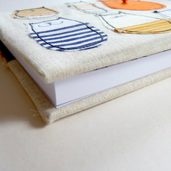 cat notebook fabric covered