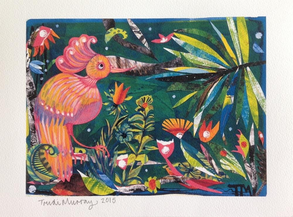 Trudi Murray, jungle painting