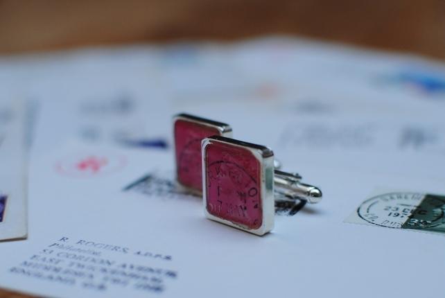 Vintage stamp cufflinks