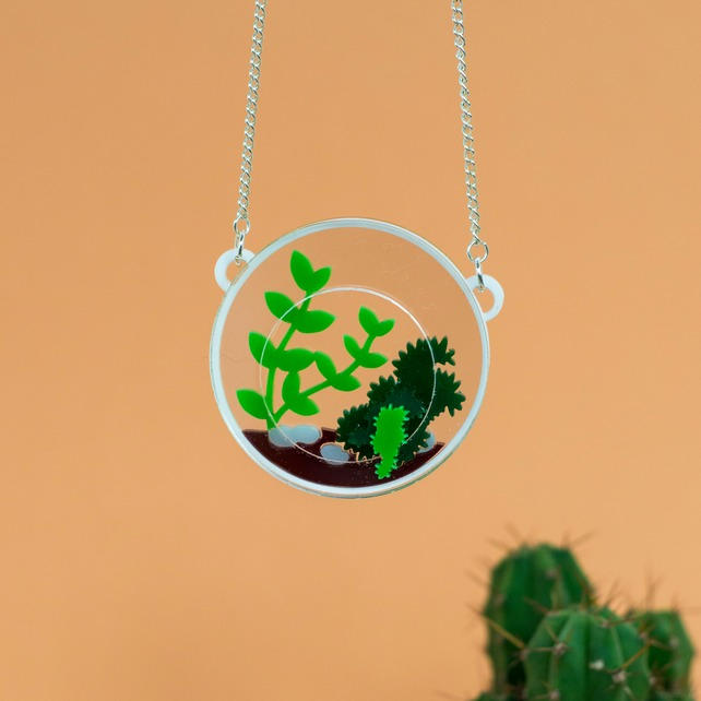 terrarium necklace, finest imaginary