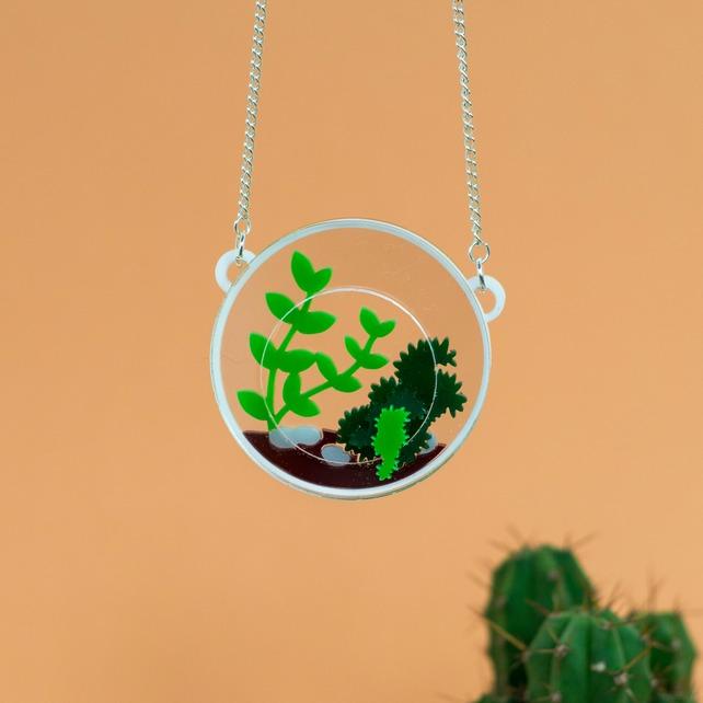 terrarium necklace, finest imaginary