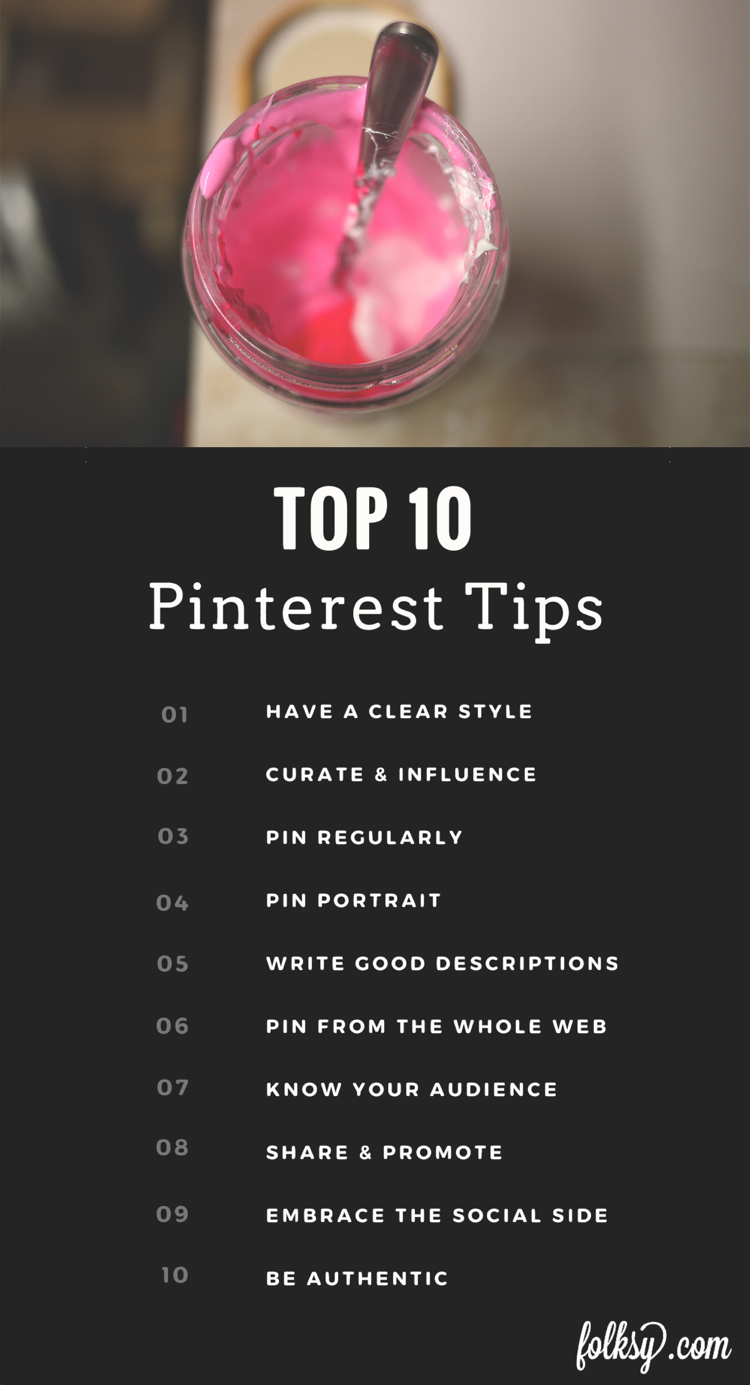 Top 10 tips for Pinterest
