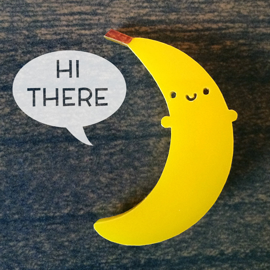 banana brooch by asking for trouble