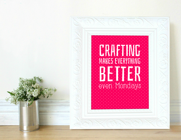crafting makes everything better print by Snappy Crocodile