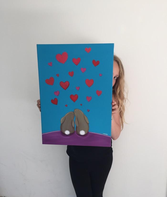 Jo Roper Bunny Paintings