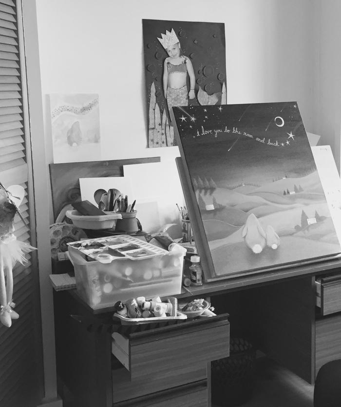 Jo Roper's studio