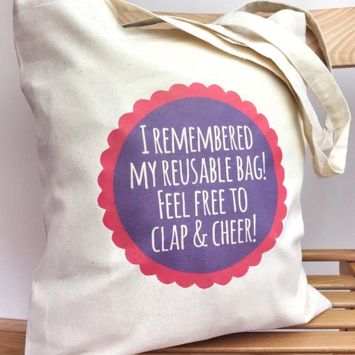 reusable bag snappy crocodile