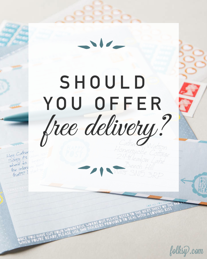Should you offer free postage in your online shop?