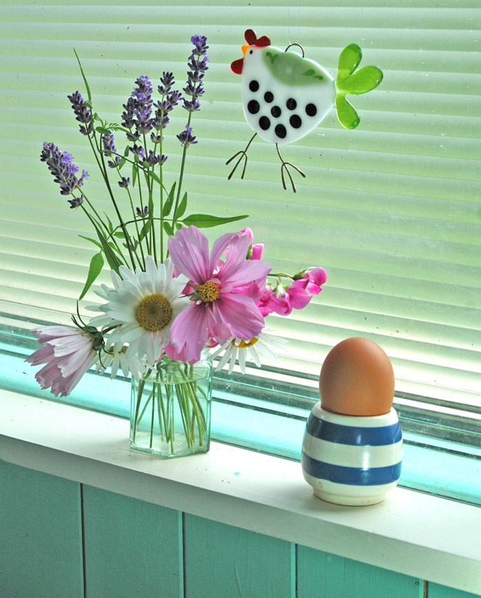 glass chicken decoration, Alma caira