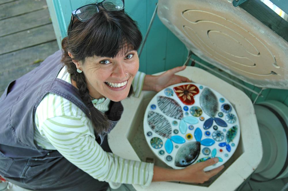 Alma Caira, glass artist, interview