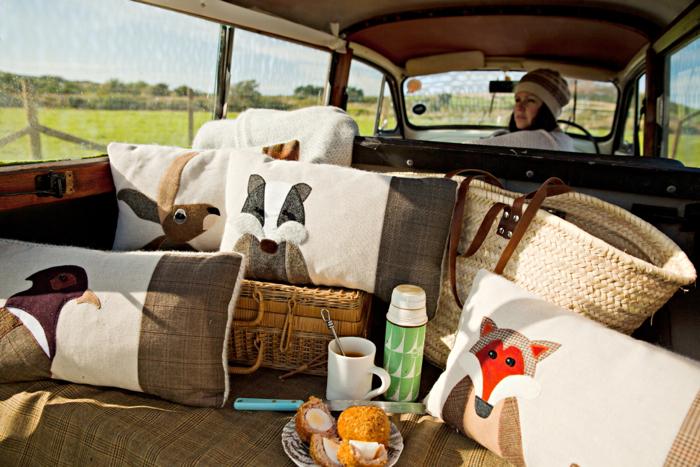 Seaforth Designs, autumn cushions