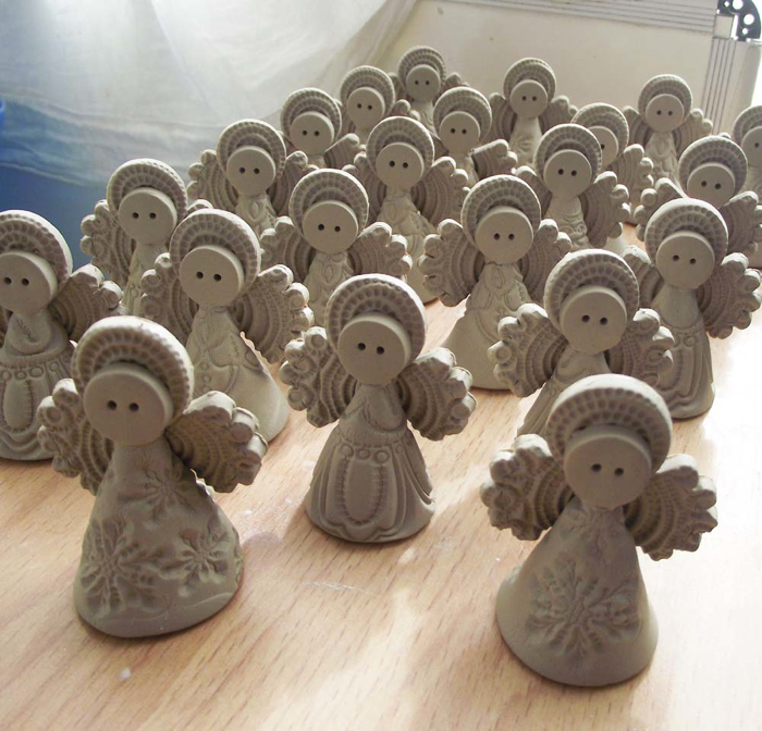 Christmas Angel decorations, Dottery Pottery
