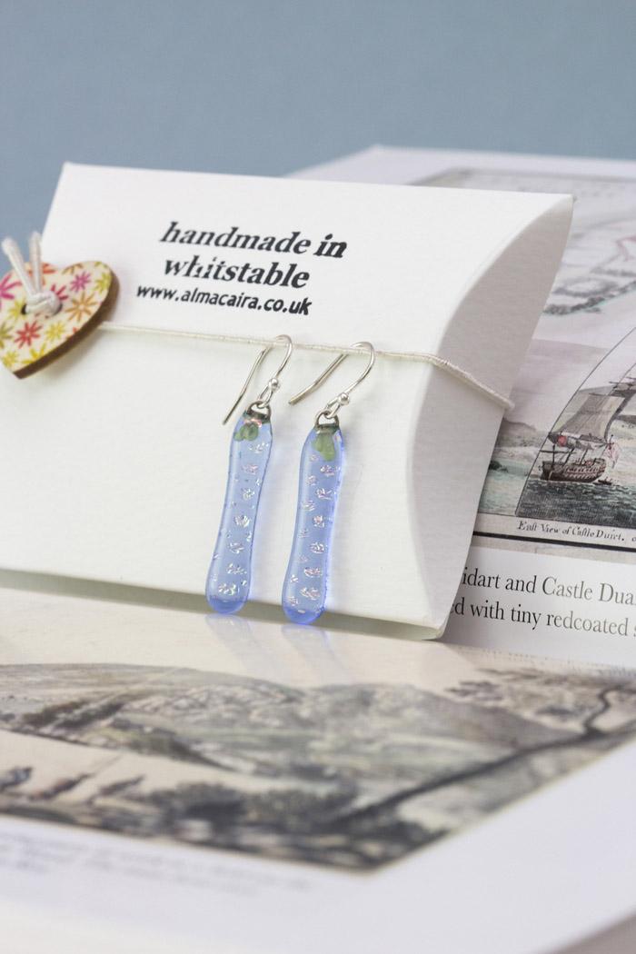 Alma Caira, handmade glass earrings
