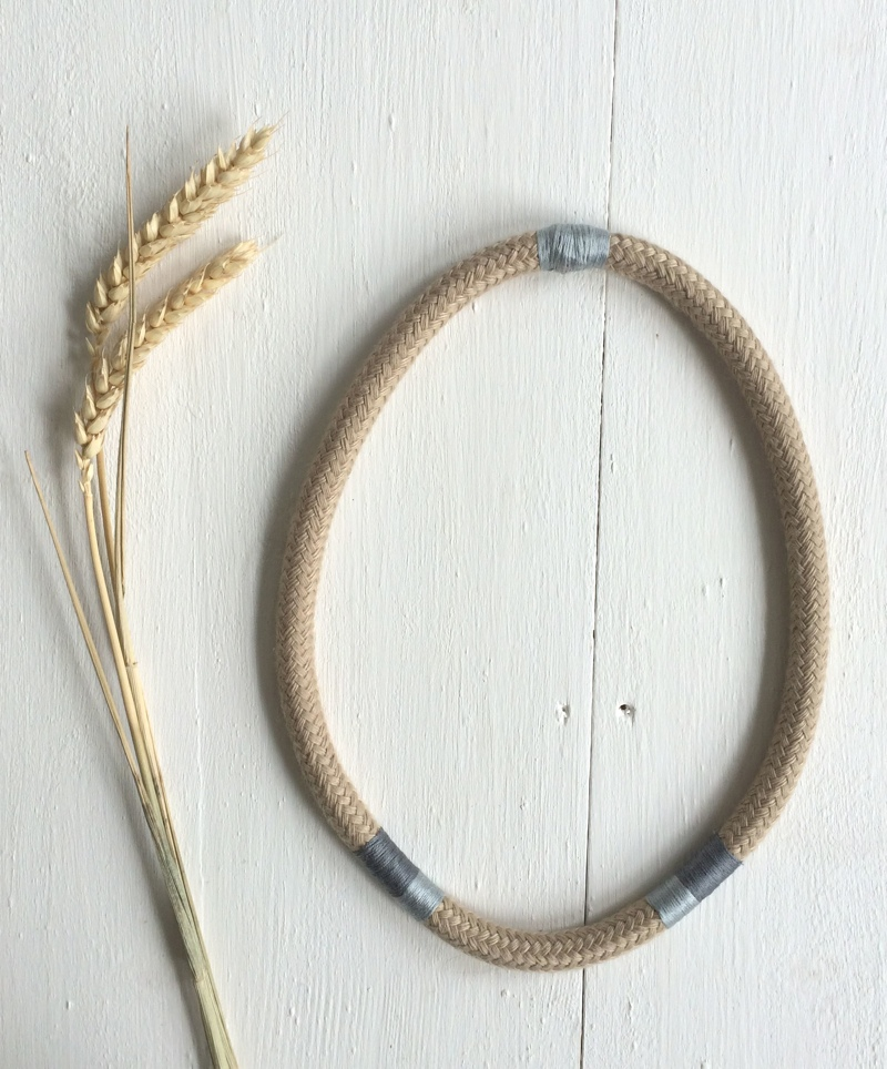 autumn rope and thread necklace, peggy peg, beth pegler