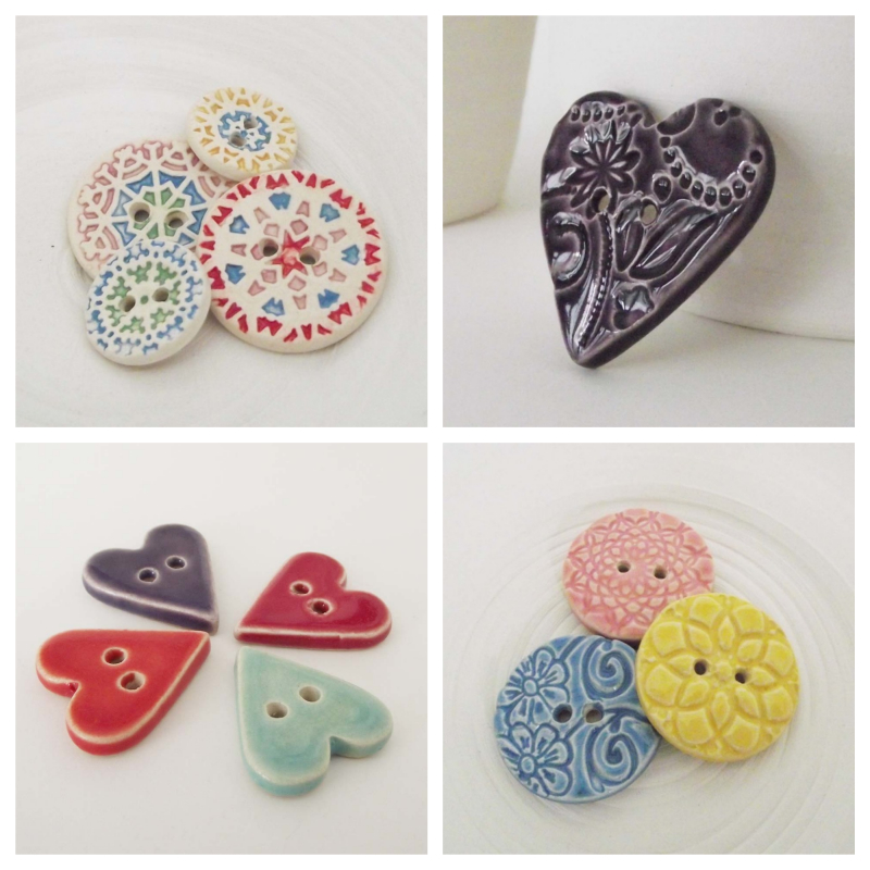 Ceramic buttons, Dottery Pottery