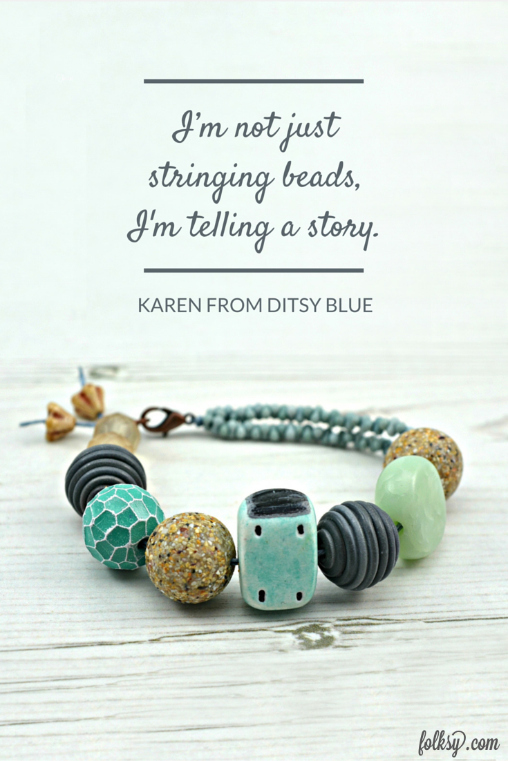 Ditsy Blue, the British Jeweller who tells stories with each bead she strings